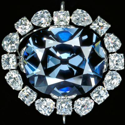 Close-up of the Hope Diamond